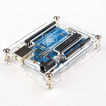 SunFounder Uno R3 Case Enclosure New Transparent Gloss Acrylic Computer Box Compatible with Arduino UNO R3