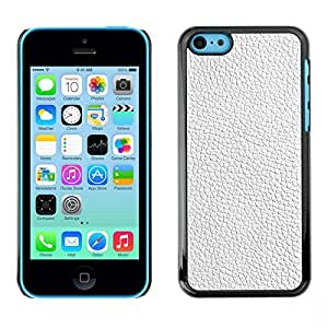 KOKO CASE / Apple Iphone 5C / white texture textile interior design pattern / Slim Black Plastic Case Cover Shell Armor