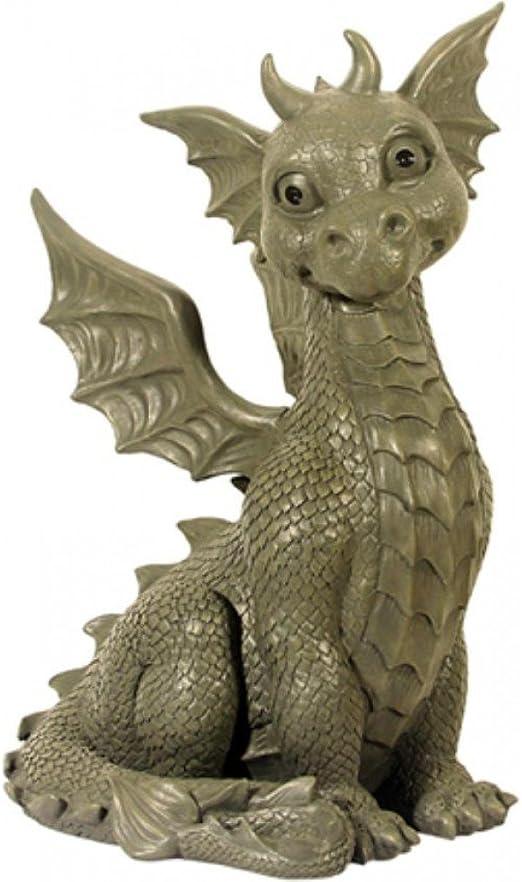 Muy Grande XXL jardín Dragón Sentado Figura Dragón Gargoyle: Amazon.es: Jardín