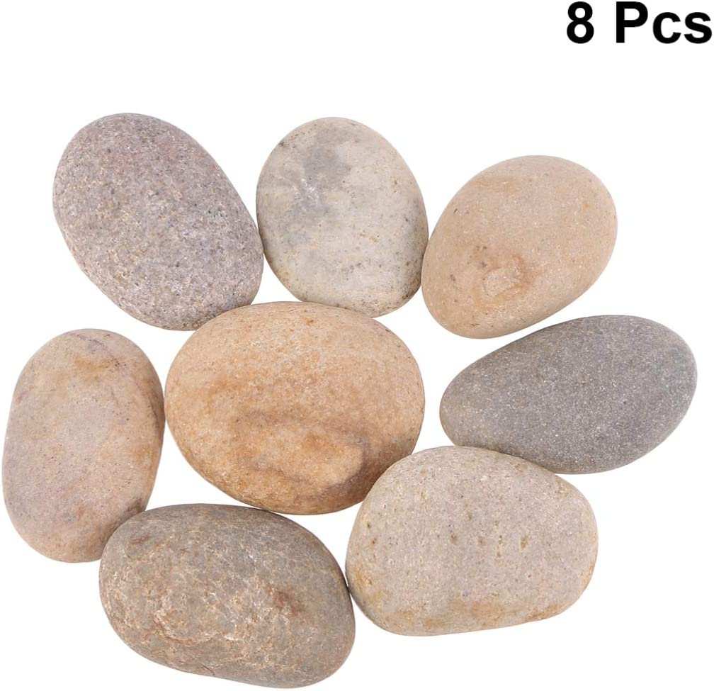 SUPVOX 50pcs Painting Rocks for Painting Kindness Rocks Crafting Party Pack Bundle River Stones Cobblestone Rock Painting Arts 1-3cm Mixed Color