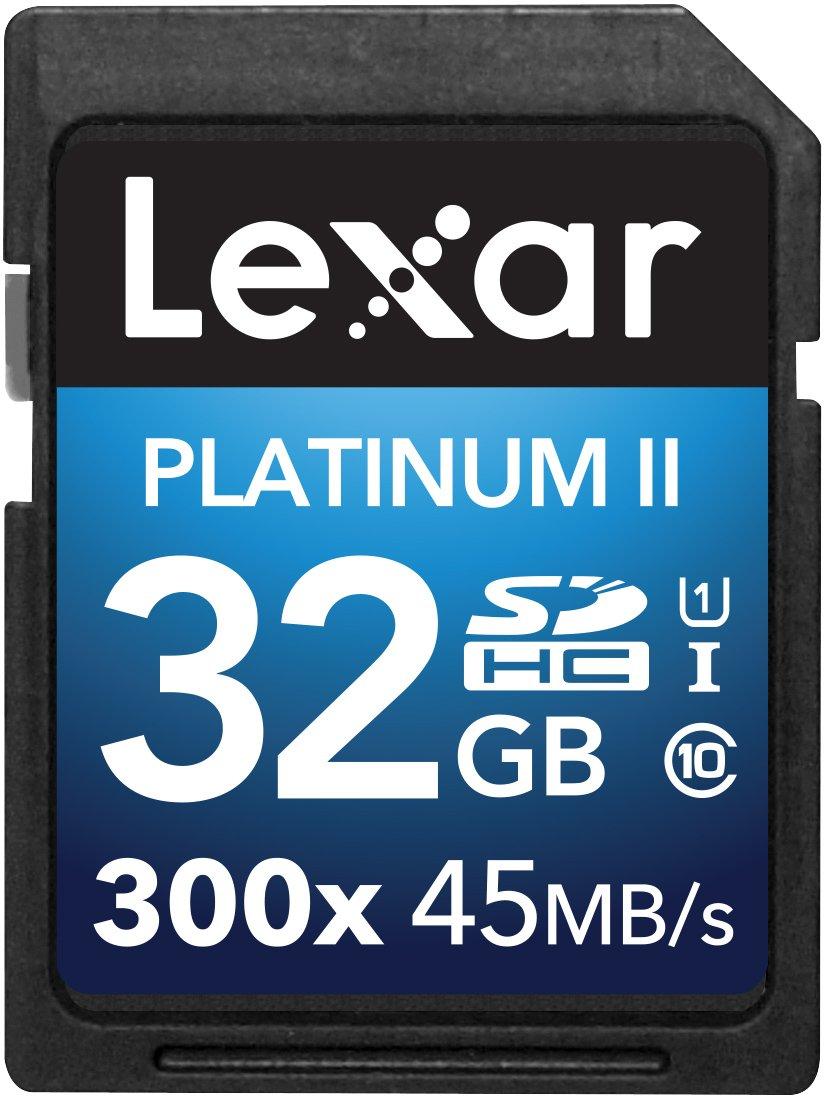 Flash Memory Card-LSD64GBBNL300 Lexar Platinum II 300x SDXC 64GB UHS-I//U1 Up to 45MB//S Read