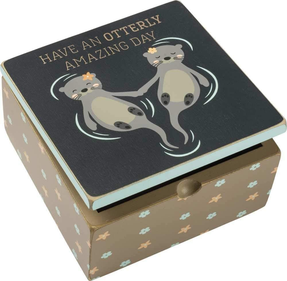 Primitives by Kathy Hinged Box - Have An Otterly Amazing Day