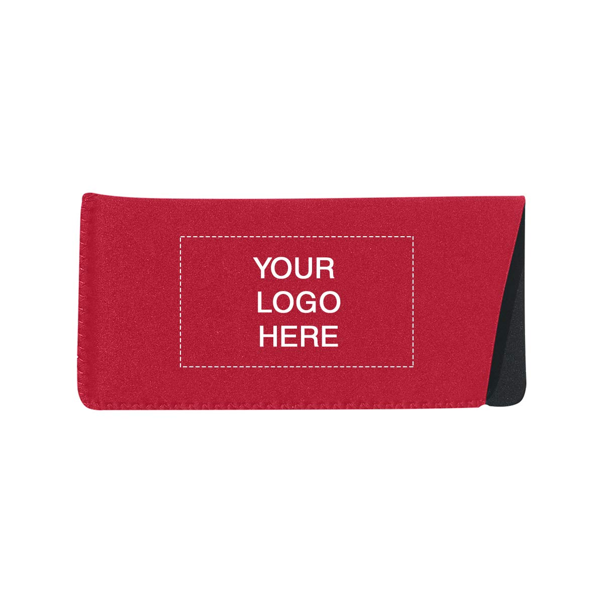 Neoprene Eyeglasses Case | 100QTY | 2.03Per | Customization case Red by Promo Direct