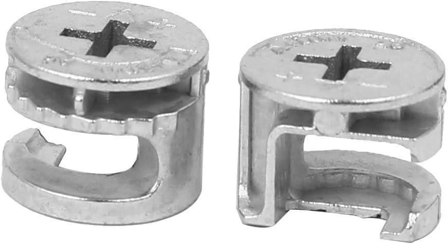 sourcingmap 30pcs M/öbel Beschl/äge Verbindungsst/ück Exzenterscheibe Rad 15mm Durchmesser de