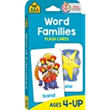 School Zone - Word Families Flash Cards - Ages 4 and Up, Preschool, Kindergarten, Beginning and Ending Sounds, Rhymes, Spelli