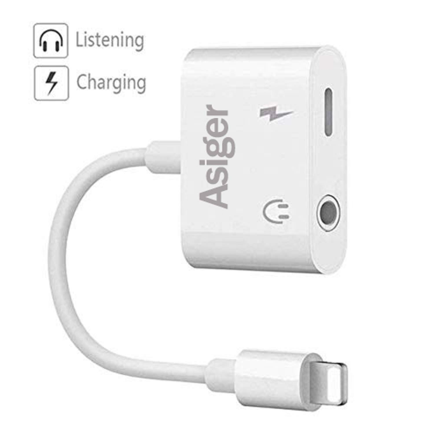 Amazon.com: Headphone Adapter Charger Adapter 3.5mm Square Jack Dongle Adapter Earphone Aux Audio & Charge: Sports & Outdoors