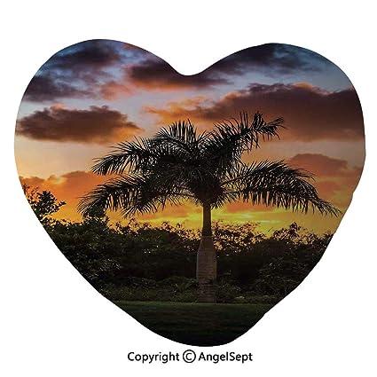 Amazon com: AngelSept 45x50cm Heart Shape Decorative Throw