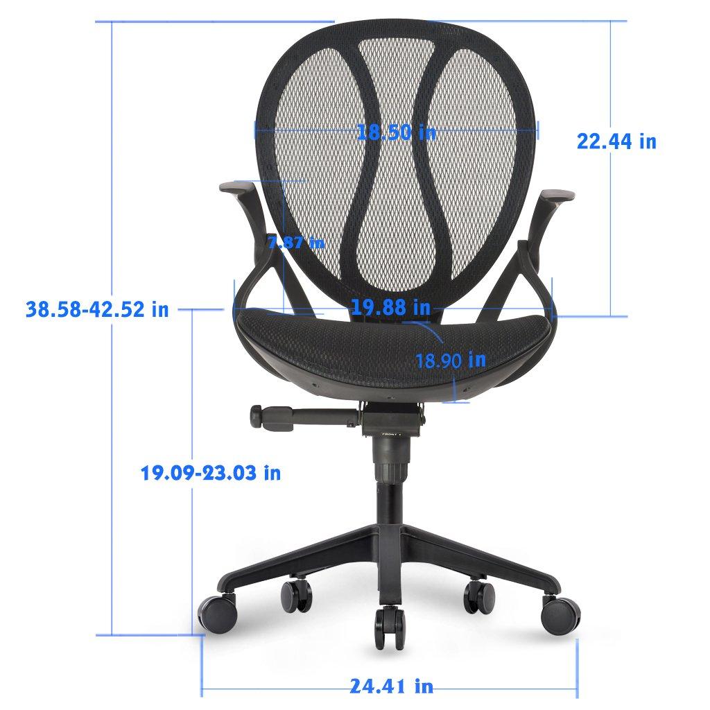 Amazon.com: LANGRIA Mid-Back Mesh Computer Desk Chair Executive ...