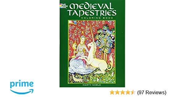 Medieval Coloring Pages For Adults : Medieval tapestries coloring book dover fashion coloring book
