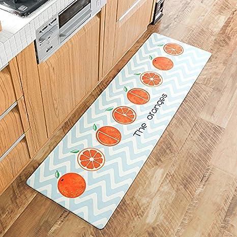 AINIF Cocinas colchones Camas alfombras de cabecera Almohadillas en el tapete,45 * 75cm,Vitality Naranja: Amazon.es: Hogar