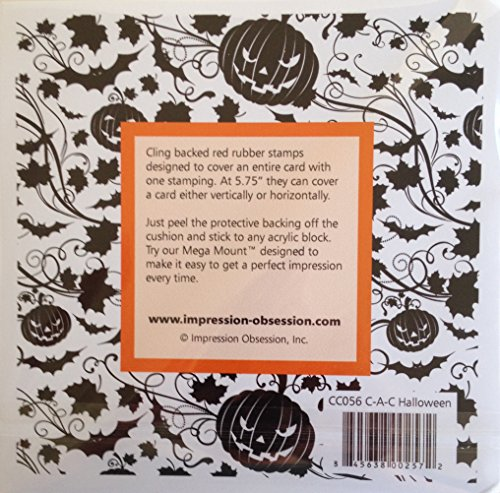 Halloween Cover-a-Card Unmounted Cling Rubber Stamp (CC056) -