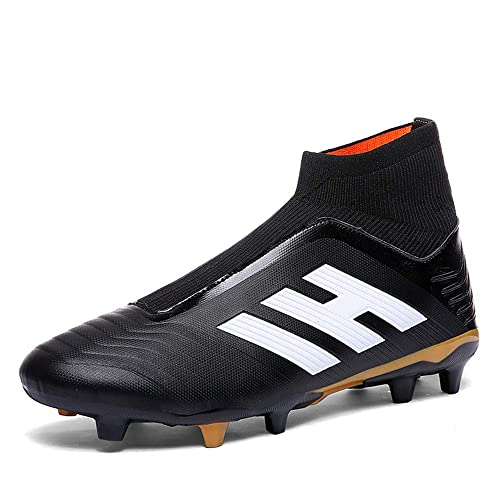 Lozoyo Laceless Soccer Boots Predator 18+ FG Soccer Shoes Men Firm Ground Football  Boots Kids (Men UK5 EU38 24cm 1afea30de865