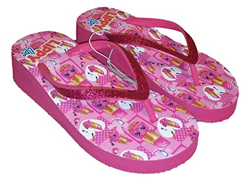 2cacd5c9bf24 Shopkins Lippy Lips Pink Little Girl Sandal Flip Flop (Size 2-3)