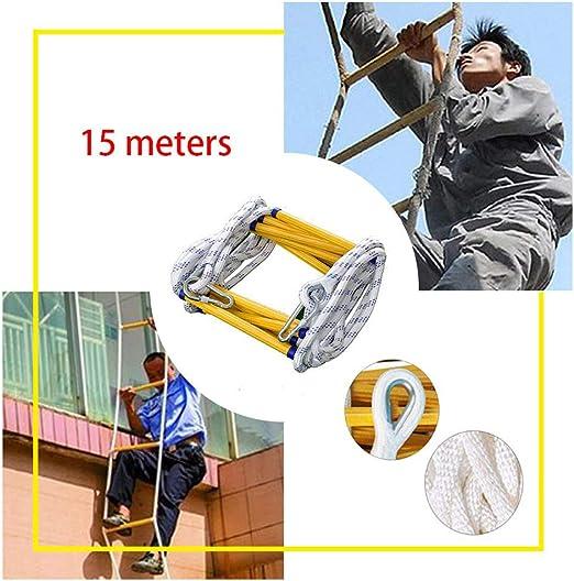 SJWR Escaleras Portátiles De Emergencia, Escalera De Cuerda De Escape De Incendios, Escalera Blanda De Nylon Multifunción Duradera, para Niños Adultos Balcón De Ventana,15m: Amazon.es: Hogar