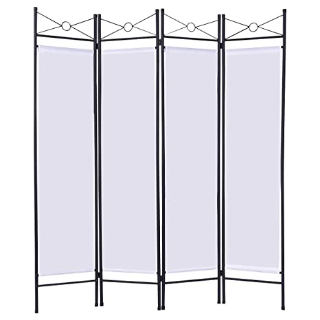 Amazon.com: Giantex 4 Panel Room Divider Privacy Screen Home Office ...