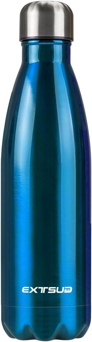 Extsud 500ml Thermo Bouteille deau Bouteille Isotherme Puissante Double Paroi Acier Inoxydable sans BPA Non Toxique pour Sport Gym Bureau Camping Randonn/ée Voyage Water Bottle