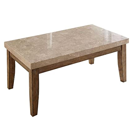 Wondrous Amazon Com Franco Marble Top Rectangular Coffee Table White Squirreltailoven Fun Painted Chair Ideas Images Squirreltailovenorg