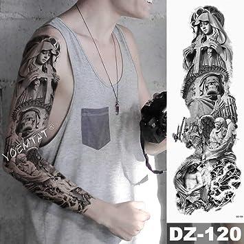Tatuaje de brazo grande tatuaje de dragón reloj de loto tatuaje ...