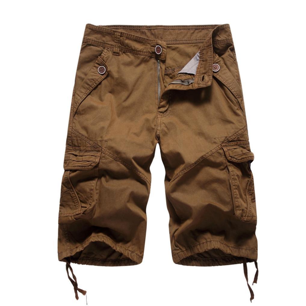 Mikkar Mens Casual Shorts Pocket Fashion Pants Beach Work Short Trousers Sale