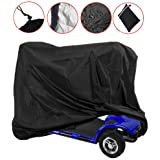 Sqodok Mobility Scooter Storage Cover Waterproof, Wheelchair Cover Scooter Weather Cover for Travel Lightweight Electric Chai