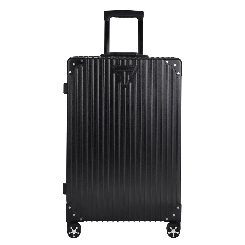 TABITORA(タビトラ) スーツケース 大型 8輪 TSAロック キャスター交換可能 止まれる 出張 軽量 大容量 静音 旅行用品 アルミフレーム B074CBM5K2 Lサイズ 75L 5.3KG|一代目:黒 キャスター交換不可/止まる機能無し 一代目:黒 キャスター交換不可/止まる機能無し Lサイズ 75L 5.3KG