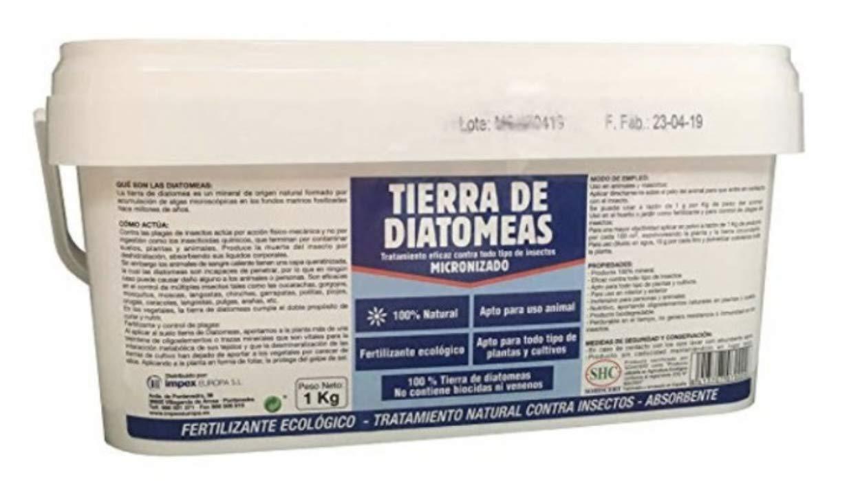 TIERRA DE DIATOMEAS 1Kg Fertilizante ecológico TRATAMIENTO EFICAZ CONTRA TODO TIPO DE INSECTOS
