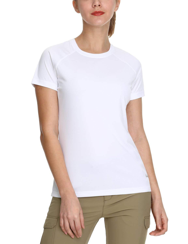 BALEAF Women's UPF 50+ UV Sun Protection T-Shirt Outdoor Performance Short Sleeve White Size M by BALEAF