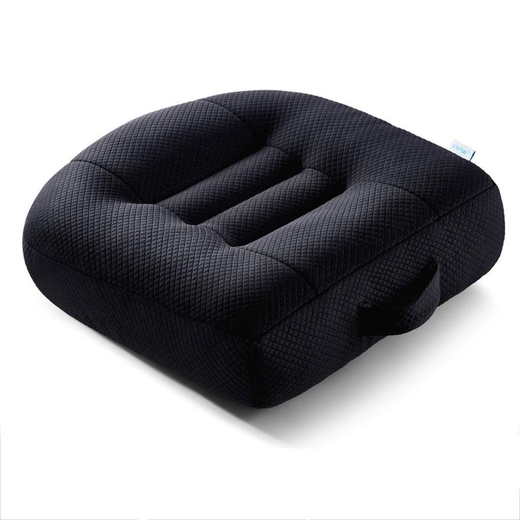 MUTANG Orthopaedic Memory Foam Seat Cushion - Relief from Sciatica Pain, Lower Back Pain & Coccyx/Tailbone Pain | Seat Pad for Chairs, Cars & Planes (Color : Black)