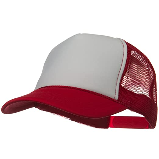 1fb79dd7290 Otto Caps Two Tone Polyester 5 Panel Foam Front Mesh Back Cap - Red White  Red