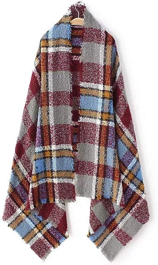 AiNaMei Chal de bufanda de doble uso, salvaje e invernal para hombre y mujer.