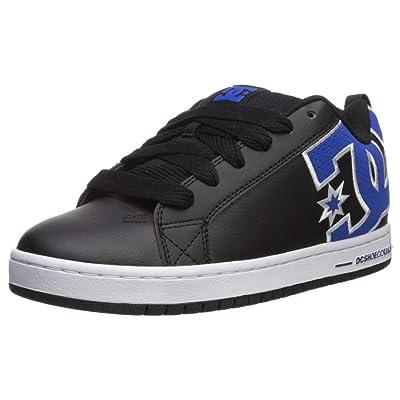 DC Men's Court Graffik Se Skate Shoe, Black/Blue, 9 M US: Shoes