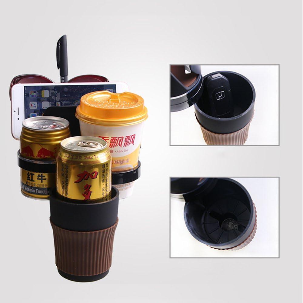 Xmdz Getränkehalter Auto Organizer Multifunktion Für Handy Sonnenbrille Stift 360 Verstellbar Klappbar Multihalter Auto