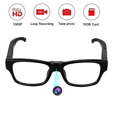Omoup 16BG 1080P HD Gafas con cámara espía DV videocámara