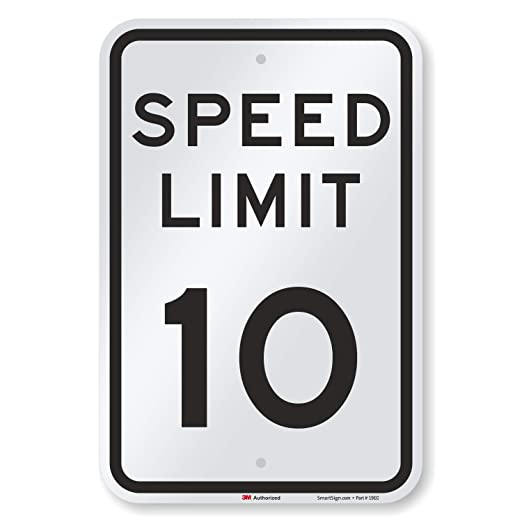 "SPEED LIMIT 40 MPH SIGN 12/"" X 18/"" ALUMINUM"