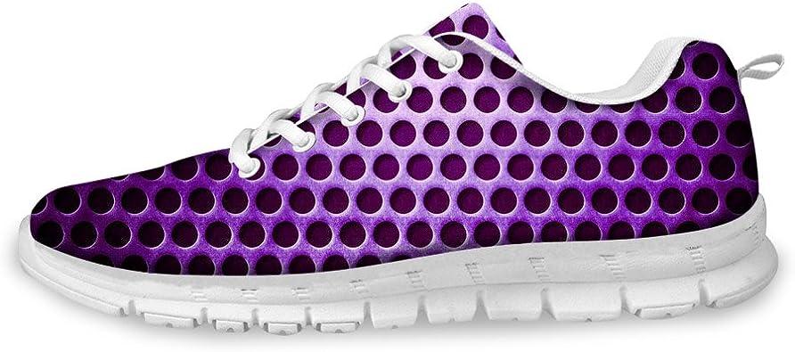 AXGM - Zapatillas de Deporte para Mujer y niña, con Agujeros en Lila, para Correr, Caminar, Correr, Hacer Deporte, Transpirables: Amazon.es: Zapatos y complementos