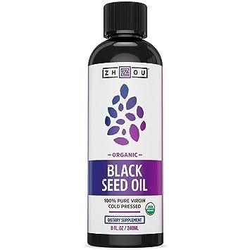 USDA Certified Organic Black Seed Oil - 100% Virgin, Cold Pressed Source of  Omega 3 6 9 - Nigella