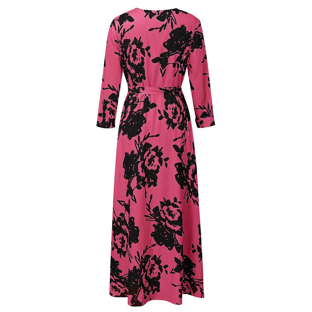 Amazon.com: FRENDLY Summer Half Sleeve Dress Women Casual ...