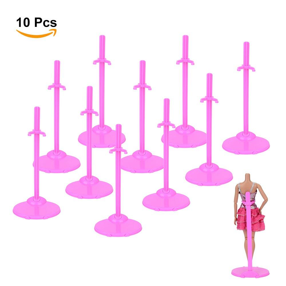 Asiv Supporto Stand per Bambole Collezione da Vetrina Stile Modella Rose, Confezione di 10 UK_A423560059