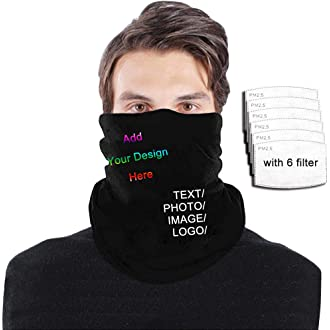 Joey Cvfashion Pattern Filtered Breathable Face Covers Funny Windproof Face and Mouth Cover for Dust Outdoors Festivals Sports
