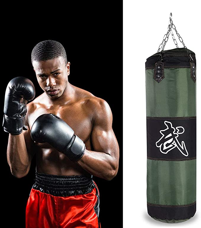 New Empty Boxing Punching Bag Training Fitness Hanging Kick Gym Exercise Sandbag