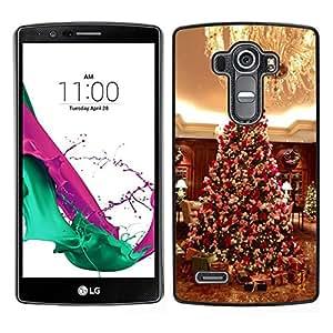 Caucho caso de Shell duro de la cubierta de accesorios de protección BY RAYDREAMMM - LG G4 - Árbol de Navidad americana Regalos Araña