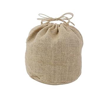 bolsa de arpillera yute para botella de vino decoracin boda xcm