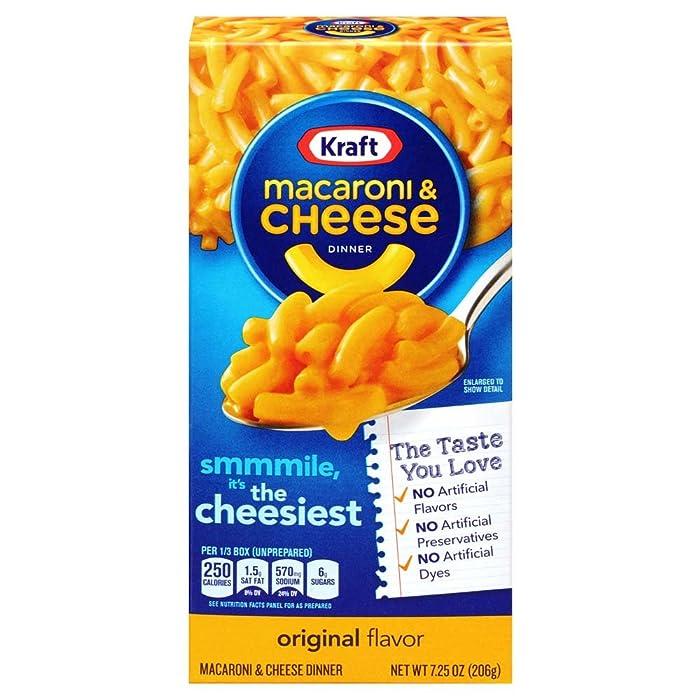 Kraft Original Flavor Macaroni & Cheese (7.25oz Boxes, Pack of 35)