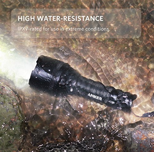 Anker Ultra-Bright Tactical Flashlight with 1300 Lumens, Rechargeable(26650 Battery Included), IP67 Water-Resistant, Bolder LC130 LED with 5 Light Modes for Camping, Security, Emergency Use by Anker (Image #3)