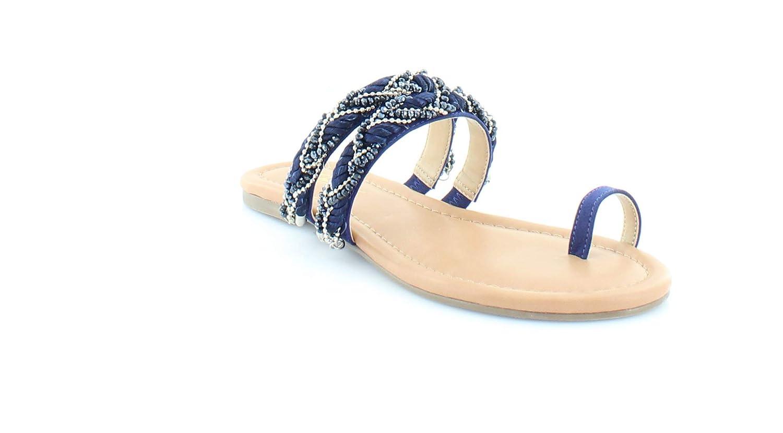 Thalia Sodi Womens Jaelah Toe Ring Microsuede Flat Sandals