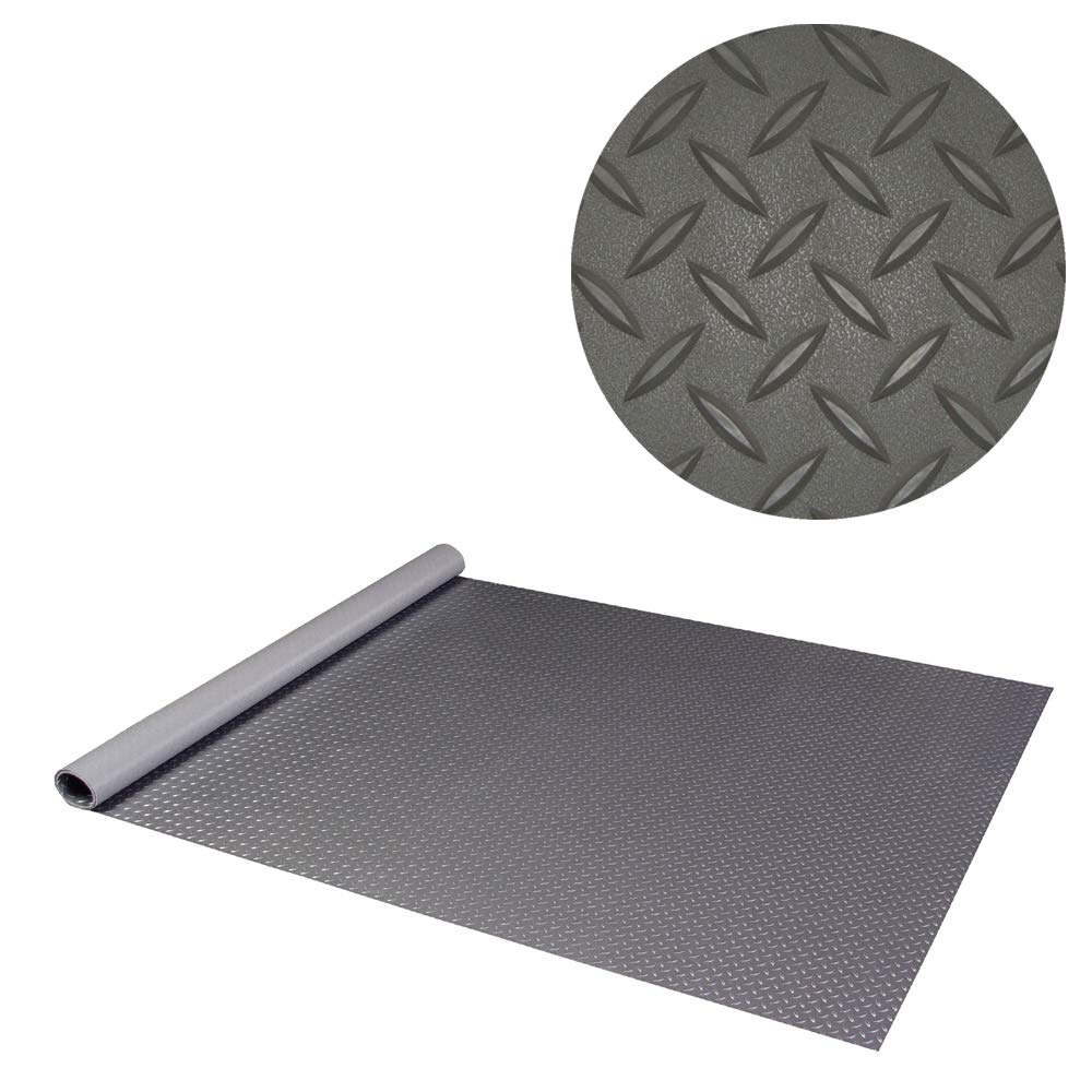 RoughTex Diamond Deck 86057 Charcoal Textured Roll Out Garage Floor Mat, Various Sizes Available by Diamond Deck (Image #1)