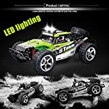 Vatos RC Trucks Remote Controls RC Cars Off Road High Speed 4WD 40km/h 1:12 Scale 50M Remote Control 2.4GHz Electric Vehicle Buggy Trucks with LED Night Vision VL-BG1513A-G(GREEN)