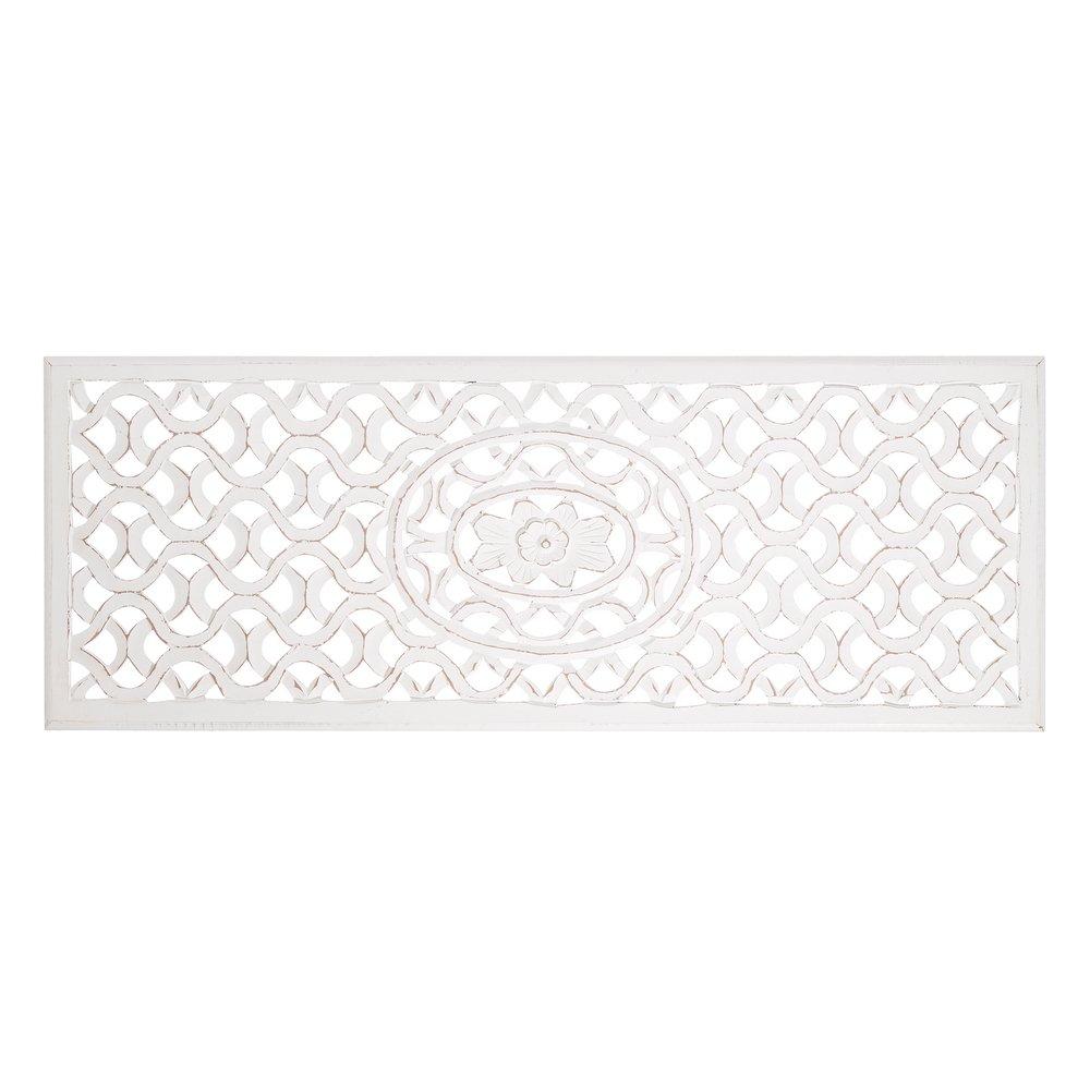 Mural de Madera Natural cabecero Blanco árabe para Dormitorio Arabia - LOLAhome Lola Home