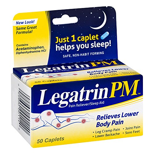 Legatrin Advanced Formula PM Caplets, 50-Count Bottles (Pack of 2) by Legatrin