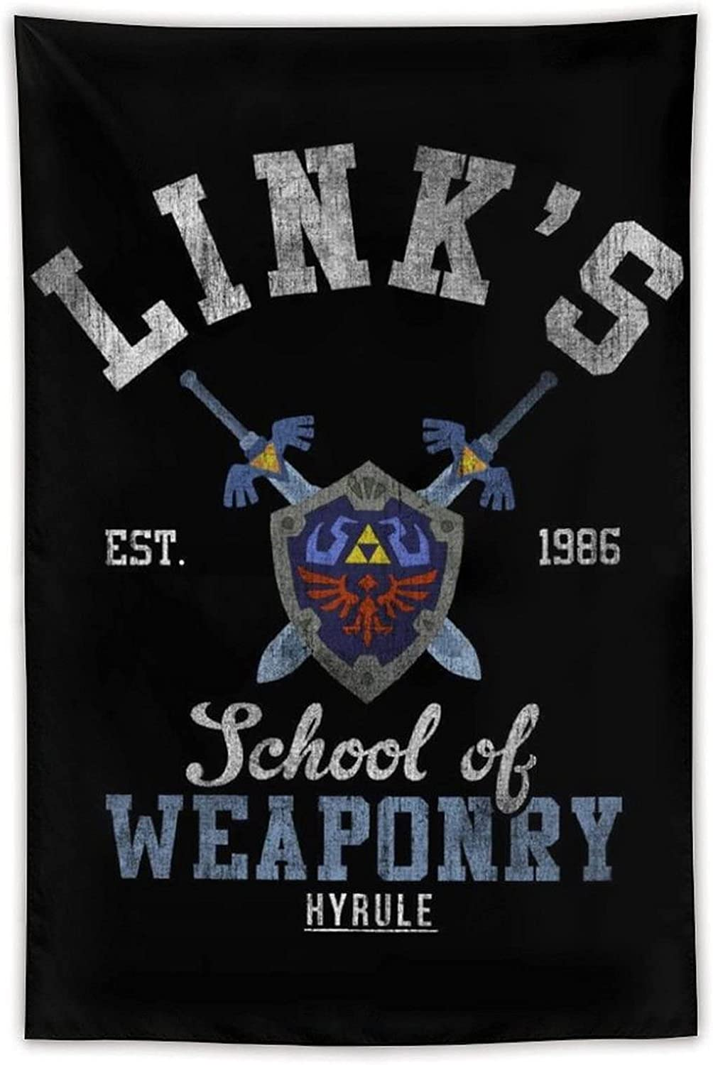 Links School of Weaponry Legend of Zelda Tapestry poster with personalized home wall decoration, can be used in the living room and bedroom (40 x 60 inches)